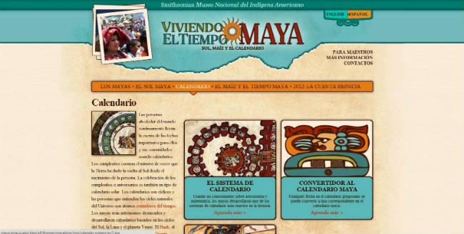 Calendario Maya en internet
