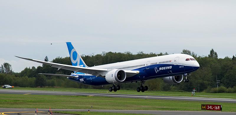 Boeing Realiza el Primer vuelo del 787-9 Dreamliner