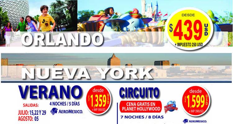 Oferta a Orlando y Nueva York