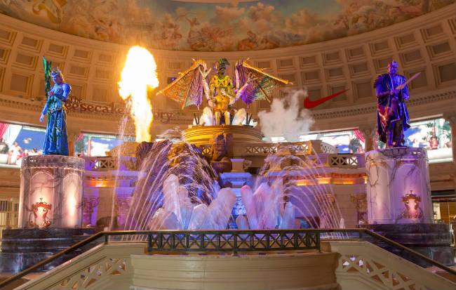 La Caída de la Atlántida renovada en Caesar's Las Vegas