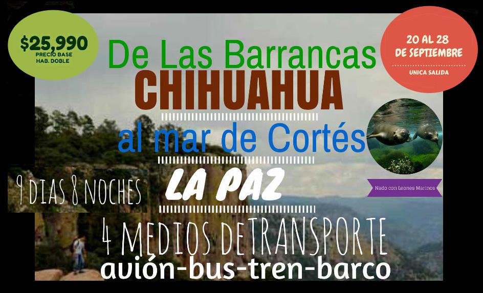Viaje de las Barrancas del Cobre al Mar de Cortés