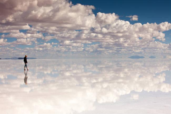 Gravedad cero, Salar de Uyuni, Bolivia