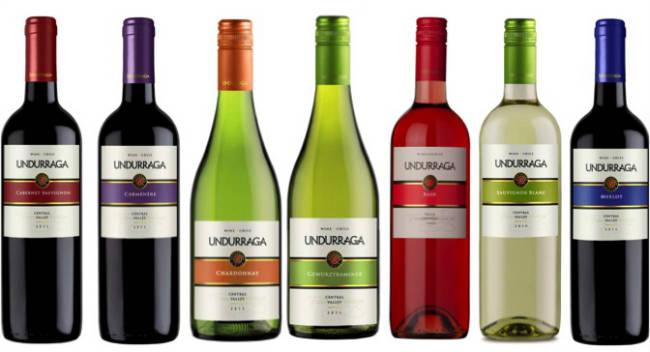 Numerosas etiquetas de la bodega chilena Viña Undurraga han logrado importantes puntajes en la Guía Penín 2015