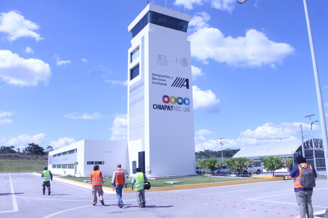 El aeropuerto de Palenque conecta a Chiapas con el mundo